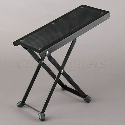6 Adjustable Level Folding Guitar Drum/cajon Pedal Anti-Slip Foot Rest stand