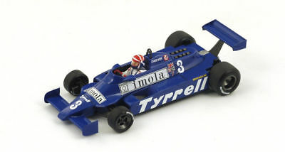 Spark 1/43 S4319: Tyrrell 010 #3 5th Place Monaco Grand Prix 1981 Eddie Cheever