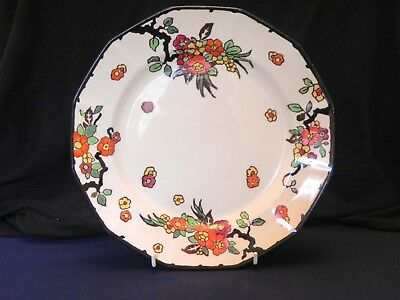 "Vintage Royal Doulton 10"" Plate Woburn Pattern Orange Flower"