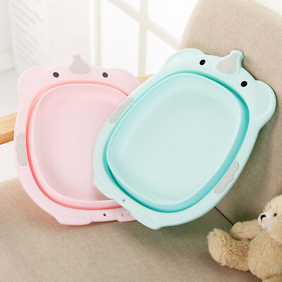 Baby Kid Washbasin Thick Footbath Basin Newborn Baby Foldable  38.5 X32.5X9.5Cm