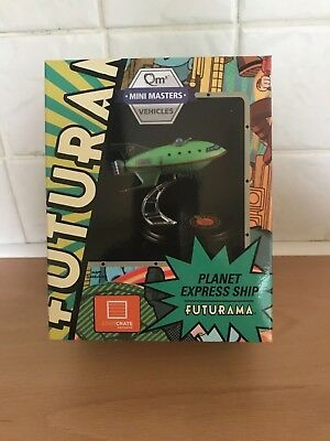 Collectible Futurama Planet Express Ship QMX MiniMasters Loot Crate Exclusive