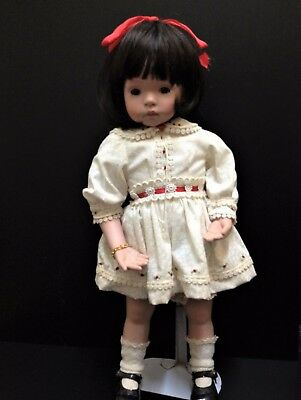 Collectors Hillview Lane - Porcelain Toddler Doll - Tricia 50cm Tall - With Age