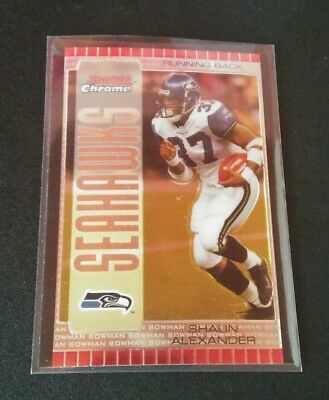 Shaun Alexander Seahawks Refractor #29 Topps Chrome 2005 NFL Football Card
