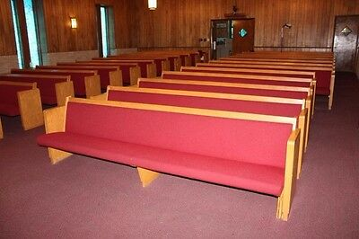 29 Used Church Pews with spring cushion seating for sale in Huntsville, Alabama