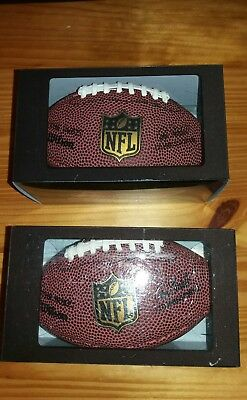 2 x Budweiser promotion NFL American Football (Wilson) boxed novelty