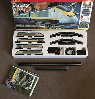 Hornby Eurostar Class 373, OO gauge train set R1013, complete and boxed + Extra