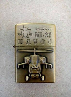 Zippo ✰ Mi 28 Havos ✰ Lighter  World Bell Helicopter Fly Army Military Gun Oil