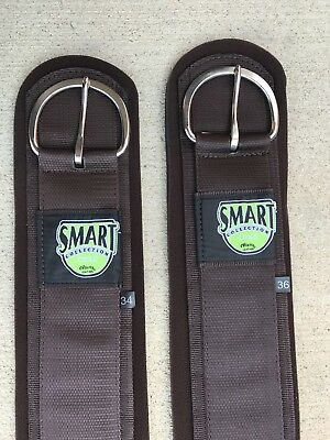"Weaver Neoprene Straight Smart Cinch With Roll Snug Buckle Brown 34"" or 36""- New"