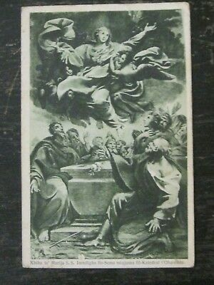 Gozo Postcard Assumption Of Mary In Heaven Black & White 1934 Mons Gonzi Talba