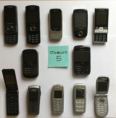 JOBLOT 12 Mobile Phones JOBLOT 5