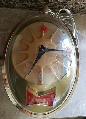 Vintage Budweiser Light Up Rotating Clock