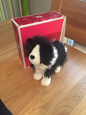 American Girl Doll Saige's Dog Rembrandt Black And White Border Collie
