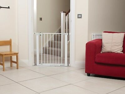 Extending Extra Wide Metal Baby Child Safety Gate Wall Fit Stairs Close Door Kid