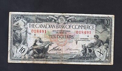 The Canadian Bank of Commerce $ 10 Dollars 1935  Canada