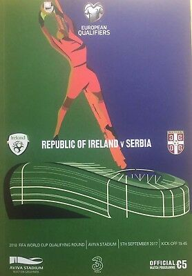 Ireland v Serbia 5/9/2017 2018 FIFA World Cup Qualifier at Aviva Stadium