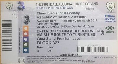 Ireland v Iceland 28/3/2017 International Friendly