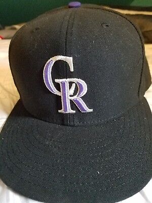 official photos c526e 45a37 New Era 5950 COLORADO ROCKIES GAME Cap Fitted MLB Baseball Hat
