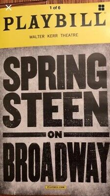 SPRINGSTEEN ON BROADWAY - Bruce Springsteen first preview performance playbill