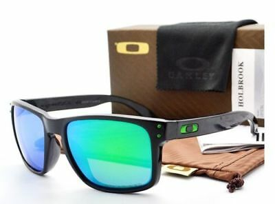 New *HOLBROOK Polished Black / Jade Iridium POLARIZED Sunglasses**