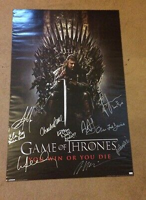 Game Of Thrones signed poster