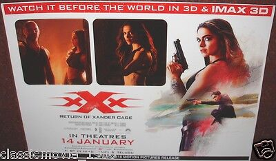 Xxx Return Of The Zander Cage (2017) Original 4 Lobby Cards Vin Diesel Deepika