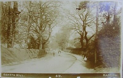 Edwardians On Roxeth Hill Harrow Middlesex Early Rp Pc