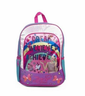 Jojo Siwa  Rucksack Backpack Bag Dream Believe Achieve Print Bag 🇺🇸 Usa Import