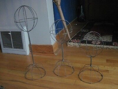 Vintage Wire Hat Rack Stand LOT ~SET OF 3~