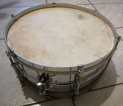 Vintage late 30's Premier Olympic snare drum
