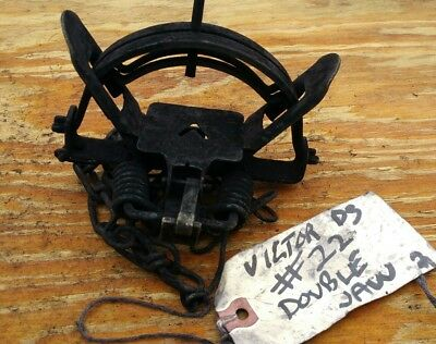 Vintage Victor #22 Double Coil Spring Double Jaw