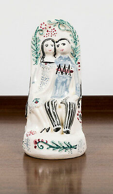 PORCELAIN LOVE CHAIR QUOTING FROM LOCKSLEY HALL by ALFRED LORD TENNYSON c. 1948