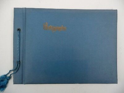 VINTAGE 1930s Unused Blue Photo Album w/ black pages