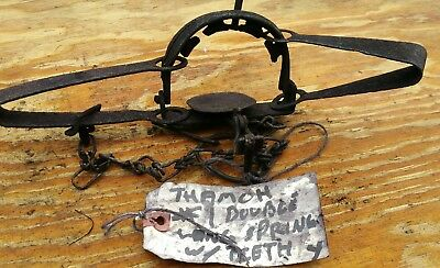 Vintage Komparkt #1 Double Long Spring with Teeth Trap