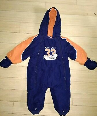 Size 18 Months Puffy Football Snowsuit