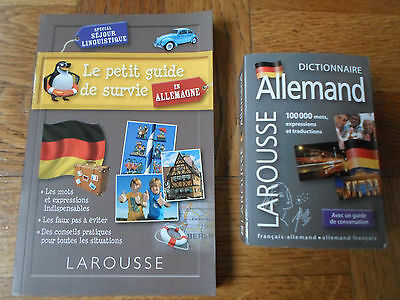 Lot Dictionnaire + Guide Allemand Neuf