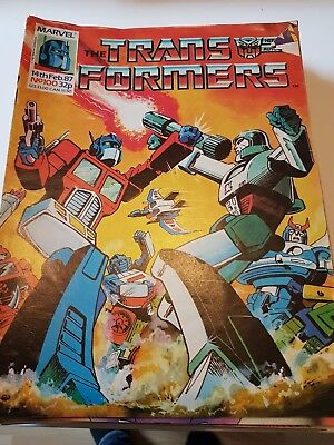 Marvel Transformers Comics uk 109 in total
