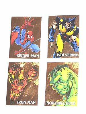 1998 Marvel Creators Collection MARVEL GOLD Chase Card Set! WOLVERINE! SPIDERMAN