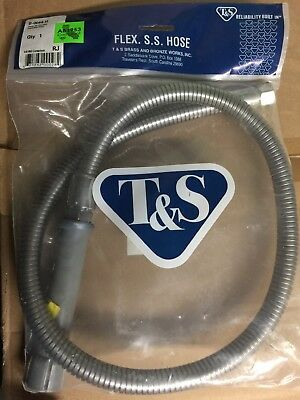 "T&S Brass B-0044-H - 44"" Flexible Stainless Steel Hose"