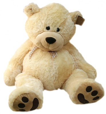 Large Cuddly Teddy Bear Soft Toy - Cuthbert (Vanilla)