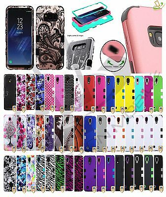 Samsung GALAXY S8 Active Impact TUFF HYBRID Armor Rubber Rugged Case Phone Cover