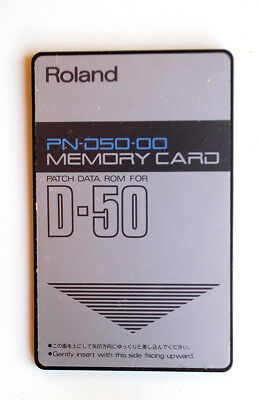 ROLAND PN-D50-00 MEMORY CARD PATCH DATA ROM for ROLAND D50 D-50 Vintage Synth