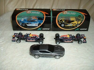 Slot Cars 1:64 Scale, 2 New & Boxed Plus 3 Used & Unboxed