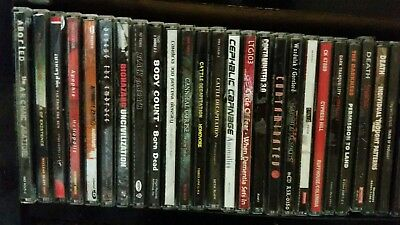 90cd lot of death/metal, rock, dream theater, carcass, cattle decapitation,rap
