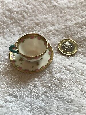 Crown Miniature Cup And Saucer