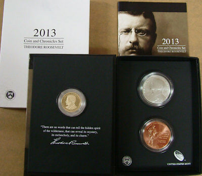 2013 Theodore Roosevelt Coin and Chronicles Set United States Mint