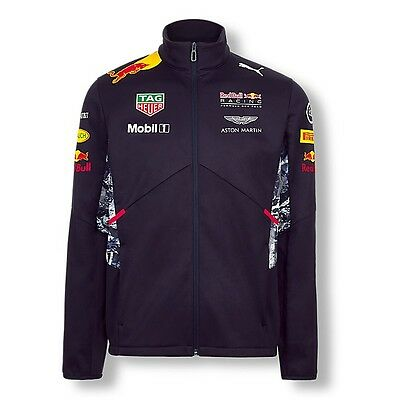 2017 OFFICIAL F1 Red Bull Racing Mens Team Soft Shell Jacket Coat – NEW