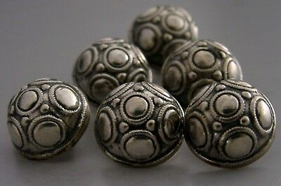 UNUSUAL ARTS & CRAFTS 800 SILVER BUTTONS ANTIQUE c1910