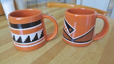 Four Mile Polychrome Anasazi Pottery Replicated Mugs
