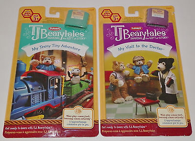 TJ Bearytales My Teeny Tiny Adventure + Visit To The Doctor Books Cartridges New