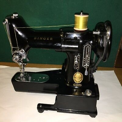 SINGER SEWING MACHINE 222K complete with ZIGzag & STRAIGHT stitch